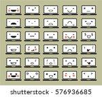 set of cute  geek  vector... | Shutterstock .eps vector #576936685
