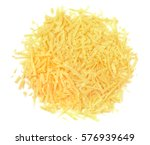 heap of grated cheese isolated... | Shutterstock . vector #576939649