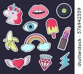 fashion patch badges. set of... | Shutterstock .eps vector #576942559