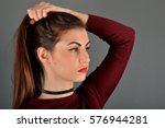 beautiful model | Shutterstock . vector #576944281