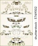lots of design floral vector...   Shutterstock .eps vector #5769502
