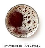 Glass Of Dark Beer Isolated On...