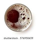 glass of dark beer isolated on... | Shutterstock . vector #576950659