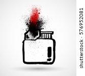 vector grunge fire lighter icon | Shutterstock .eps vector #576952081