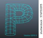 vector letter p stylized... | Shutterstock .eps vector #576953395