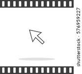 arrow  vector icon. | Shutterstock .eps vector #576959227