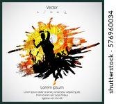 dancing people  splash poster ... | Shutterstock .eps vector #576960034