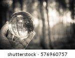 glass ball display forest  ... | Shutterstock . vector #576960757