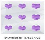 polygonal heart. a set of... | Shutterstock .eps vector #576967729