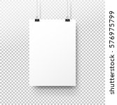 white poster hanging on binder. ... | Shutterstock .eps vector #576975799
