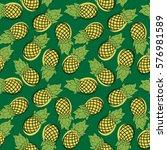 seamless pattern of cartoon... | Shutterstock .eps vector #576981589