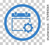 calendar options rounded icon.... | Shutterstock .eps vector #576984064