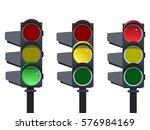 traffic light sequence vector....   Shutterstock .eps vector #576984169