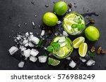summer mint lime refreshing... | Shutterstock . vector #576988249