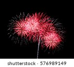 White And Red Fireworks On...