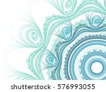 abstract fractal background.... | Shutterstock . vector #576993055