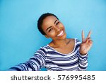 portrait of cool young black... | Shutterstock . vector #576995485