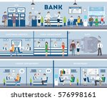 bank and office interior.... | Shutterstock .eps vector #576998161