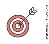 isolated target icon on white... | Shutterstock .eps vector #576999775