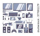 gadgets icons set. different... | Shutterstock . vector #577001179