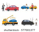 car crash set. different... | Shutterstock . vector #577001377