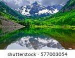 Mountain Peak Reflection In...
