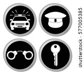 police icons   vector stickers  ... | Shutterstock .eps vector #577005385