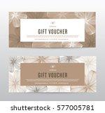 gift voucher template for spa ... | Shutterstock .eps vector #577005781