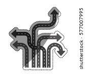 arrows and cursors icon vector... | Shutterstock .eps vector #577007995