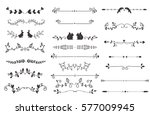 Vector Dividers Calligraphic...
