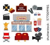 cinema symbols vector... | Shutterstock .eps vector #577009981