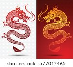 illustration of traditional... | Shutterstock .eps vector #577012465