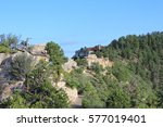 north rim grand canyon lodge up ... | Shutterstock . vector #577019401