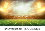 stadium lights at night and... | Shutterstock . vector #577032331