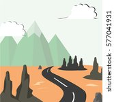 view of the road to the... | Shutterstock .eps vector #577041931