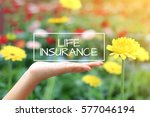 life insurance word on the... | Shutterstock . vector #577046194