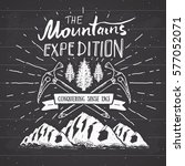 mountain expedition vintage... | Shutterstock .eps vector #577052071