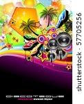tropical music event disco... | Shutterstock . vector #57705256