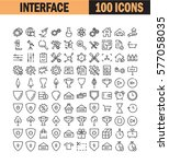 thin line icon set. collection... | Shutterstock .eps vector #577058035