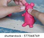 Pink Bear Play Doh Sculpture ...
