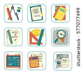 mathematics   science icons... | Shutterstock .eps vector #577077499