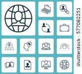 set of 12 business management... | Shutterstock .eps vector #577082251
