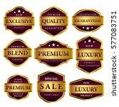 luxury premium golden labels... | Shutterstock .eps vector #577083751