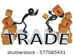 trade law legal concept with... | Shutterstock . vector #577085431