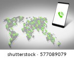 concept of global connections.... | Shutterstock . vector #577089079