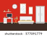 living room with furniture and... | Shutterstock .eps vector #577091779
