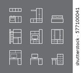furniture icons   Shutterstock .eps vector #577100041