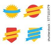 badges in flat style. vector... | Shutterstock .eps vector #577101979