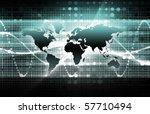 bright www internet as a... | Shutterstock . vector #57710494