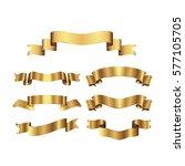 gold ribbon vector illustration | Shutterstock .eps vector #577105705